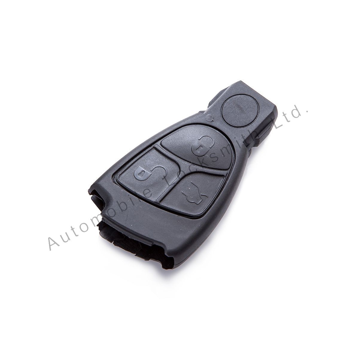 For Mercedes 3 button remote smart key case shell with circle