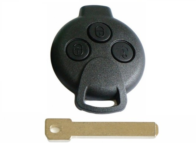 for Smart Roadstrer Fortwo 3 button remote key fob case & blade