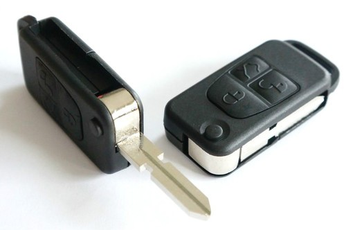 Flip Key Case and Blade for Mercedes Benz 3 Button HU39