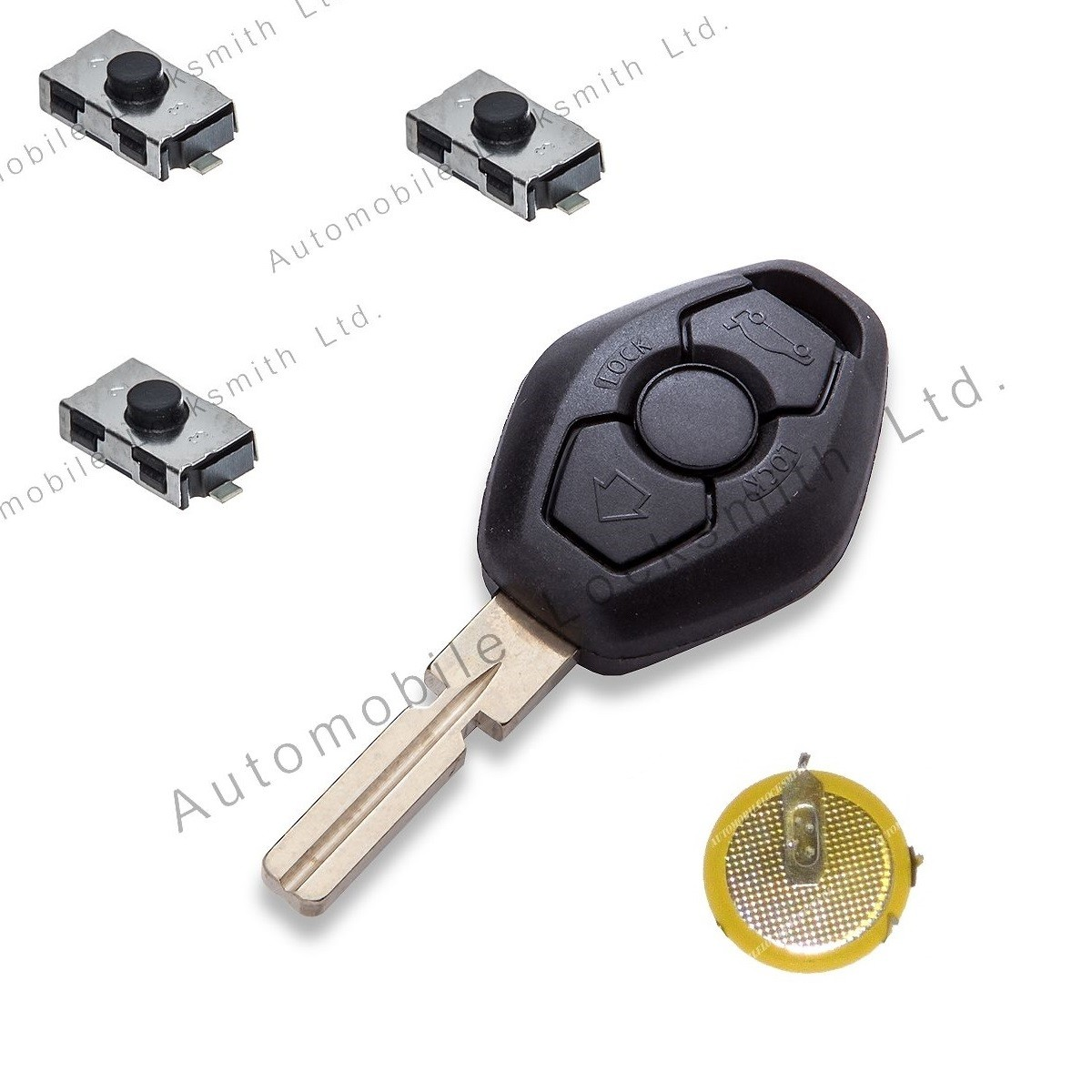 DIY Repair kit for BMW 3 button remote key with HU58 blade