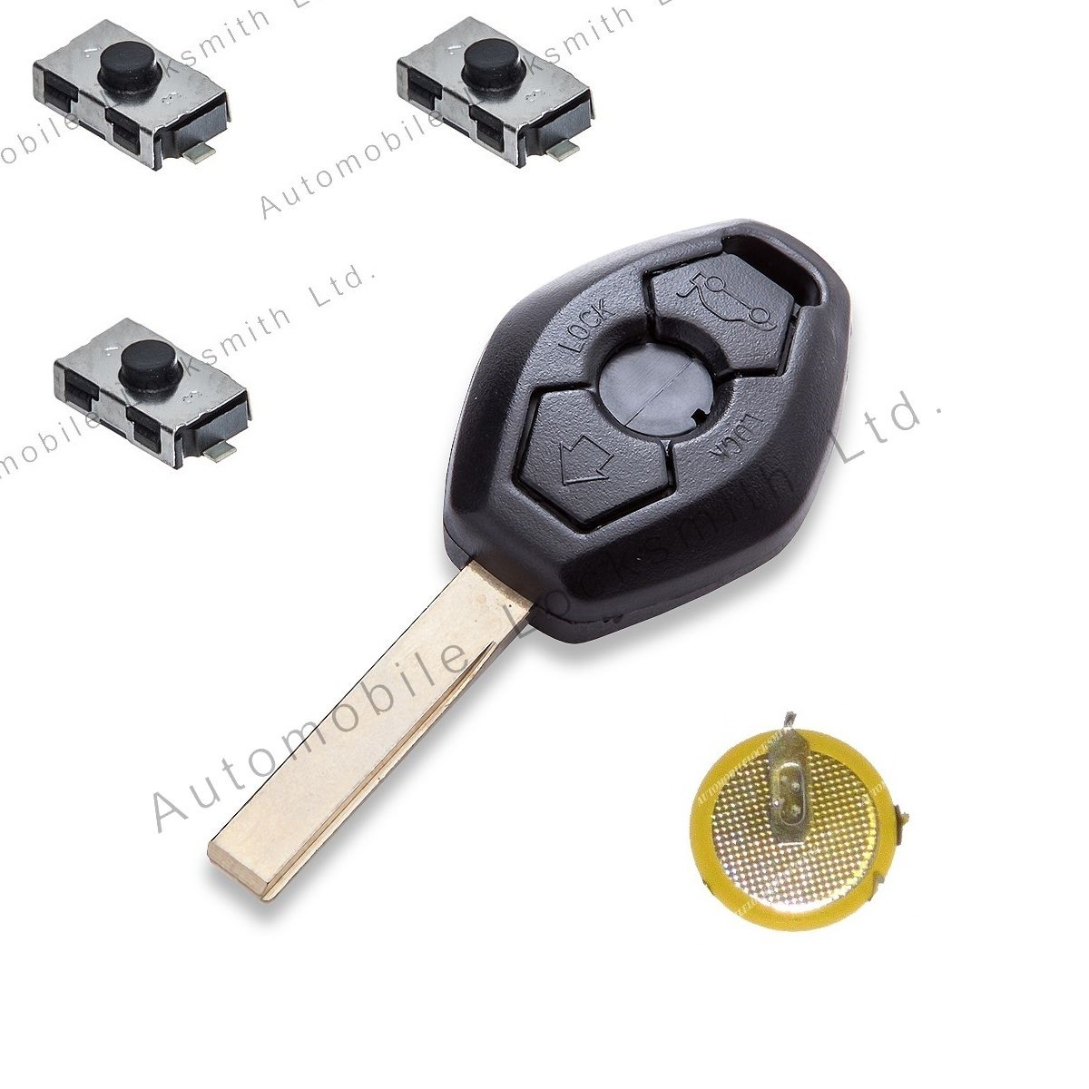 DIY Repair kit fot BMW 3 button remote key with HU92 blade