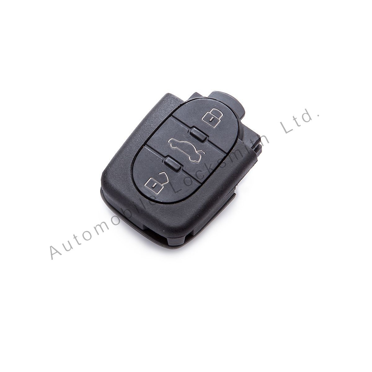 For Audi 3 button remote flip key case shell
