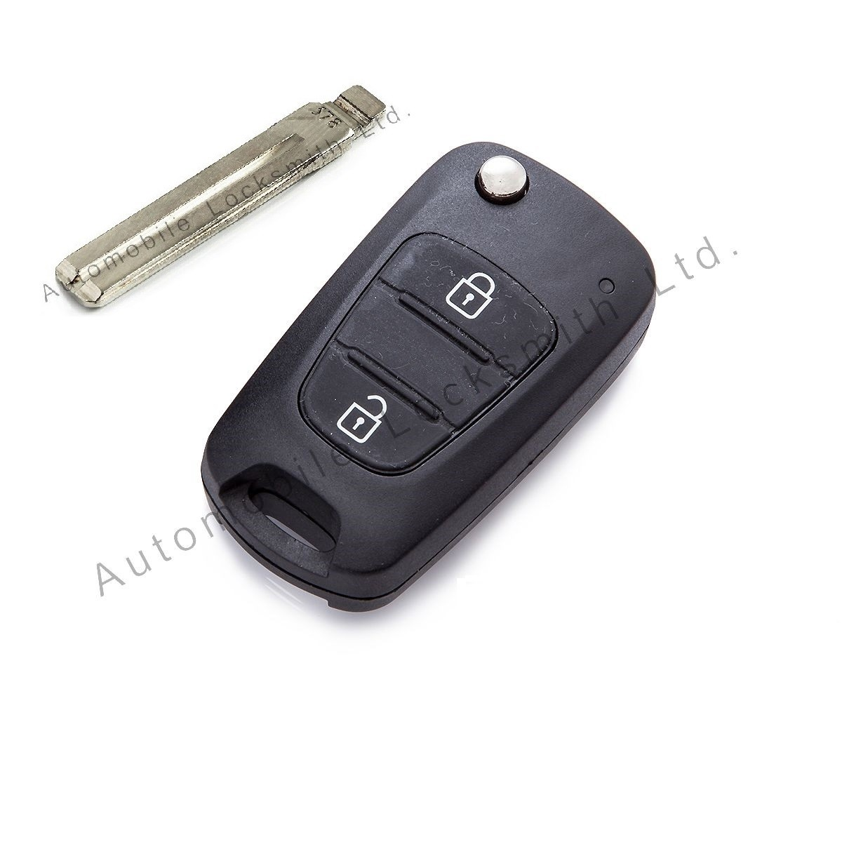 for Hyundai 3 button remote flip key case shell with blank blade