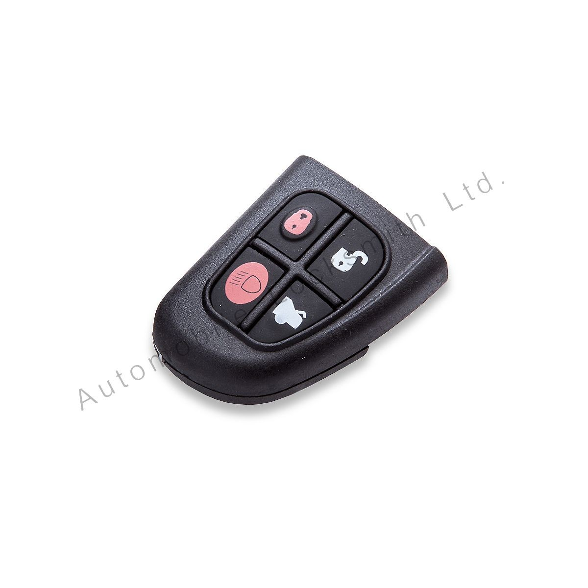 For Jaguar X-Type S-Type 4 button remote flip key case shell & rubber pad