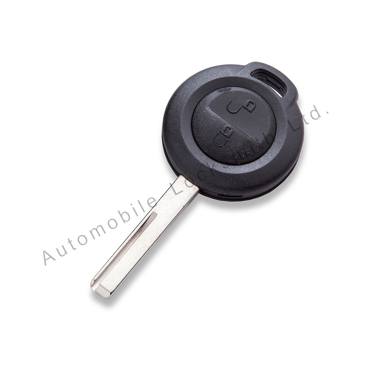 for Mitsubishi 2 button remote key case shell with rubber pad and blade