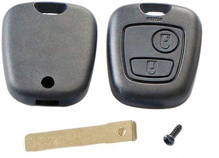 For Peugeot 307 2 button remote key fob shell case with blank blade
