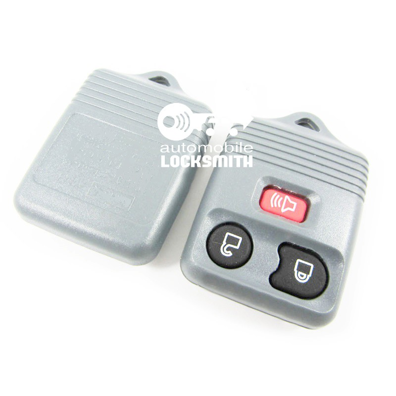 For Ford Transit maverick 3 button remote alarm key case shell gray with red button