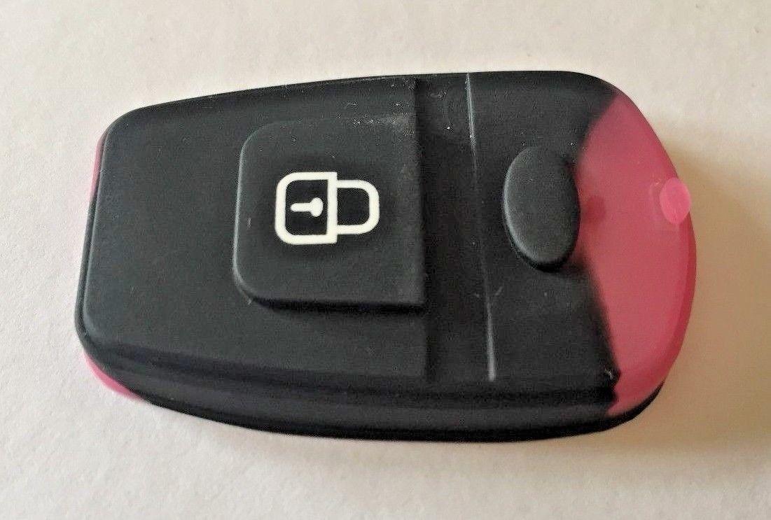 for Hyundai Elantra Santa Fe 2 button remote alarm rubber pad button