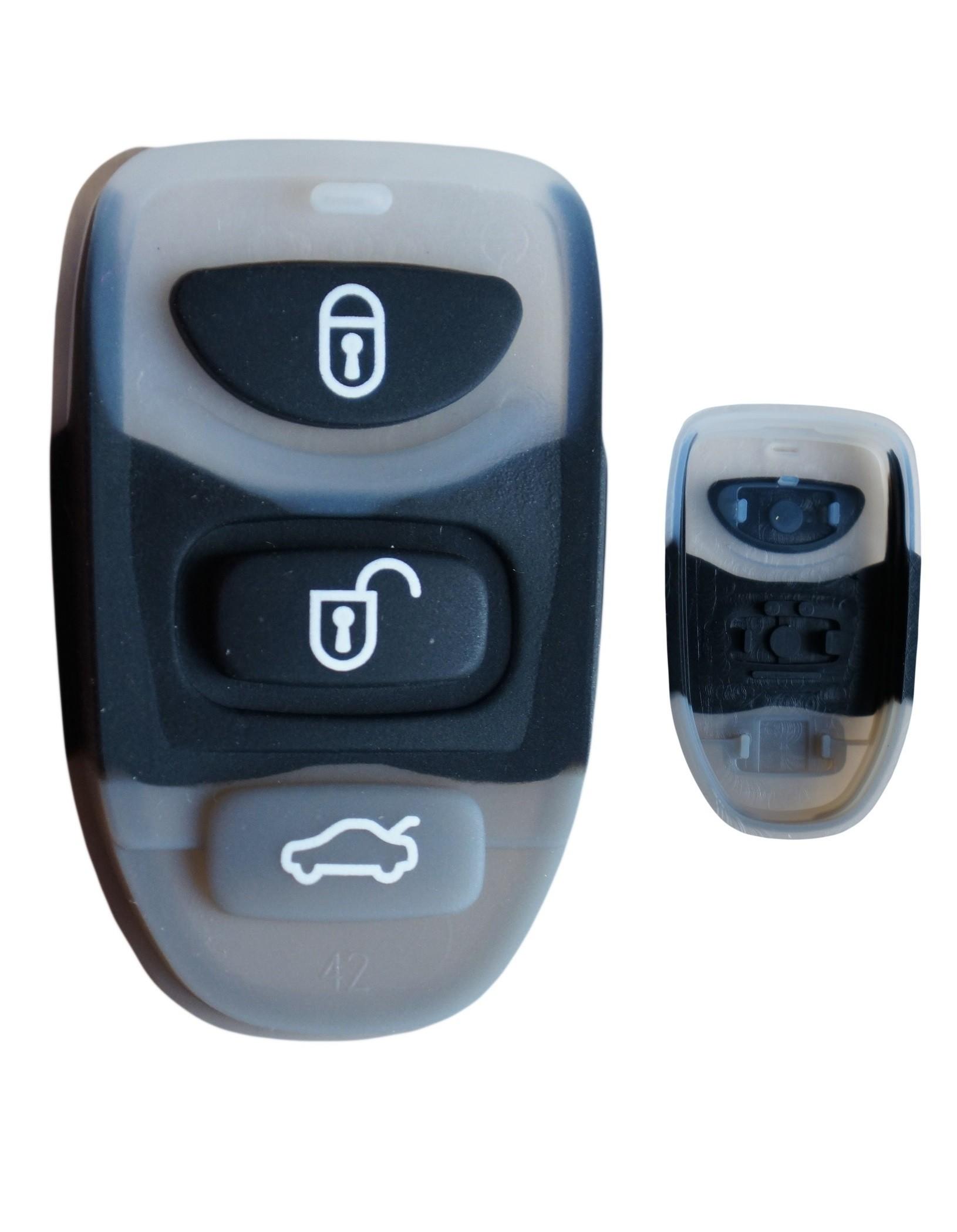 for Kia Hyundai 3 button remote alarm rubber pad button