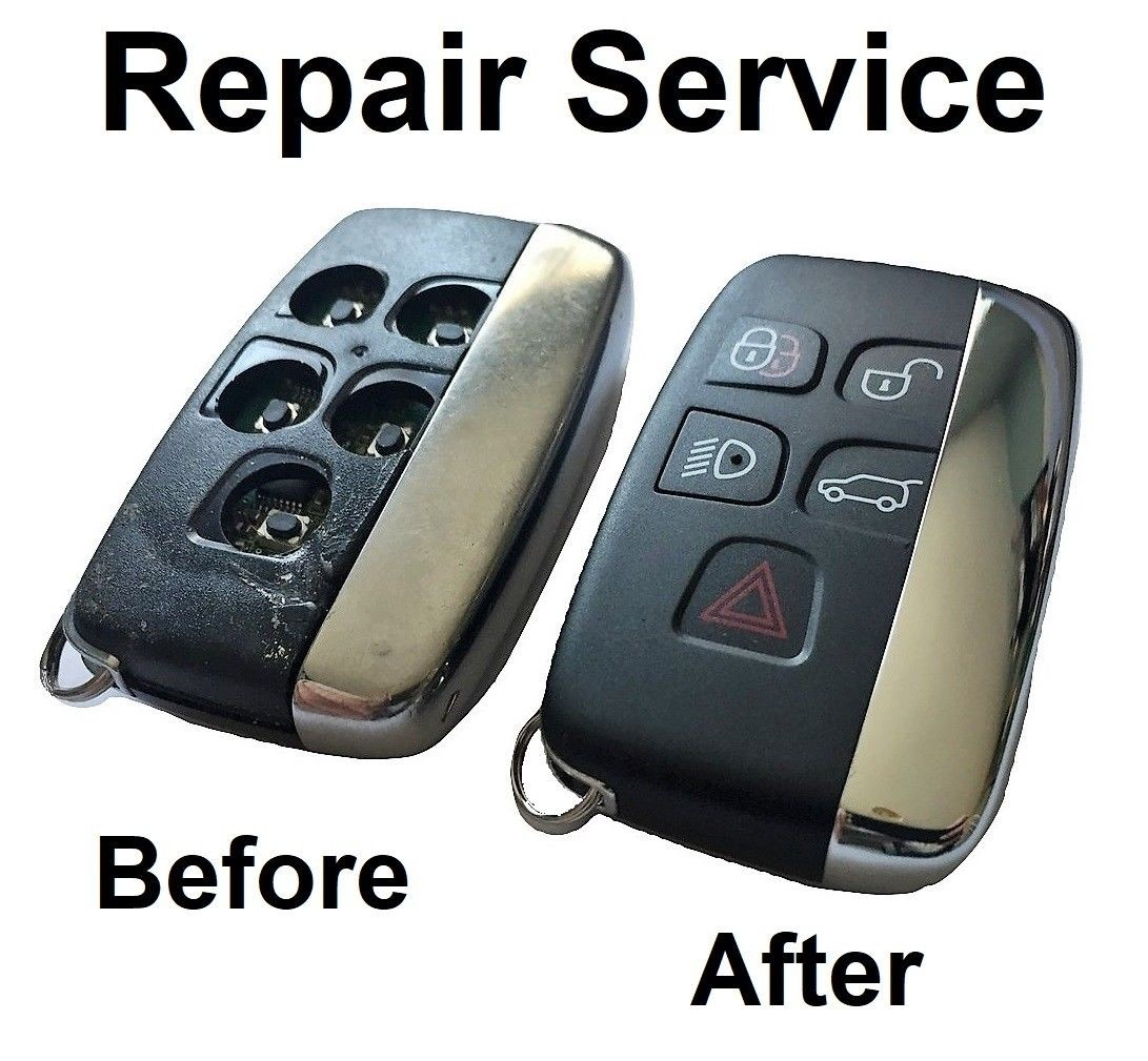 Repair service for Land Rover Range Rover Sport Evoque 5 button remote key