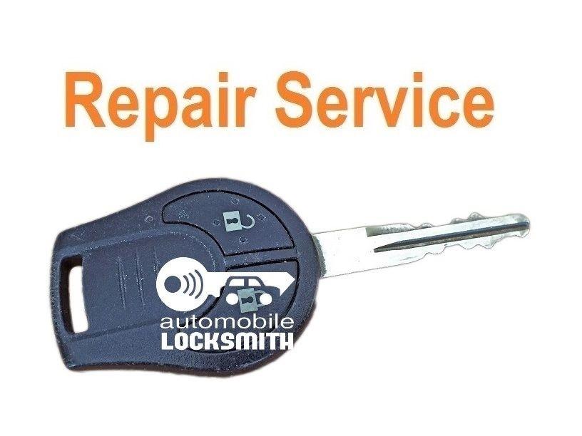 Repair service for Nissan Duke Juke None Quashqai Micra 2 button remote key