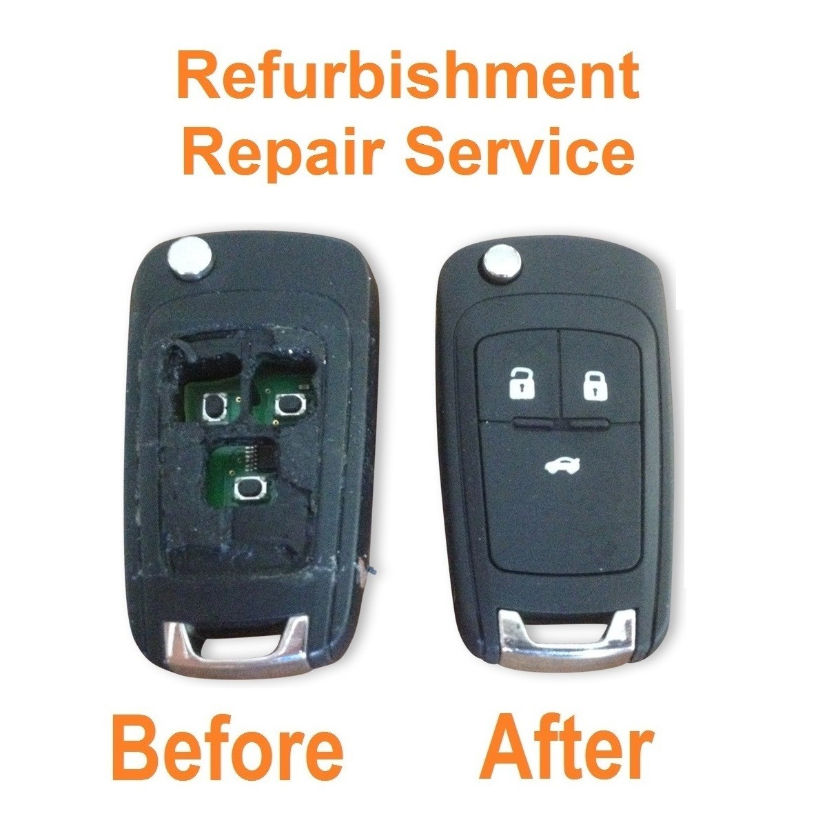 Repair refurbishment service for Vauxhall Opel Insignia Astra 3 button remote flip key