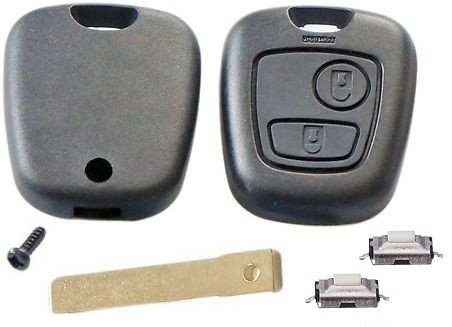 Repair KIT for Peugeot 307 2 button remote key case with blade & 2 switches