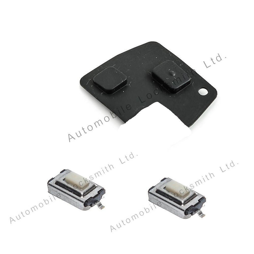 Repair kit for Toyota 2 button remote key rubber pad and 2 switches