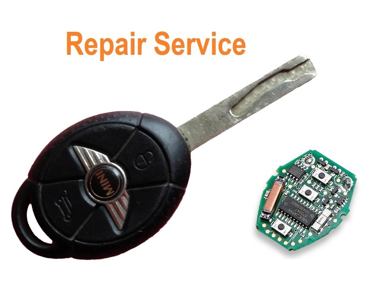 Repair service for Mini Copper 3 button remote key