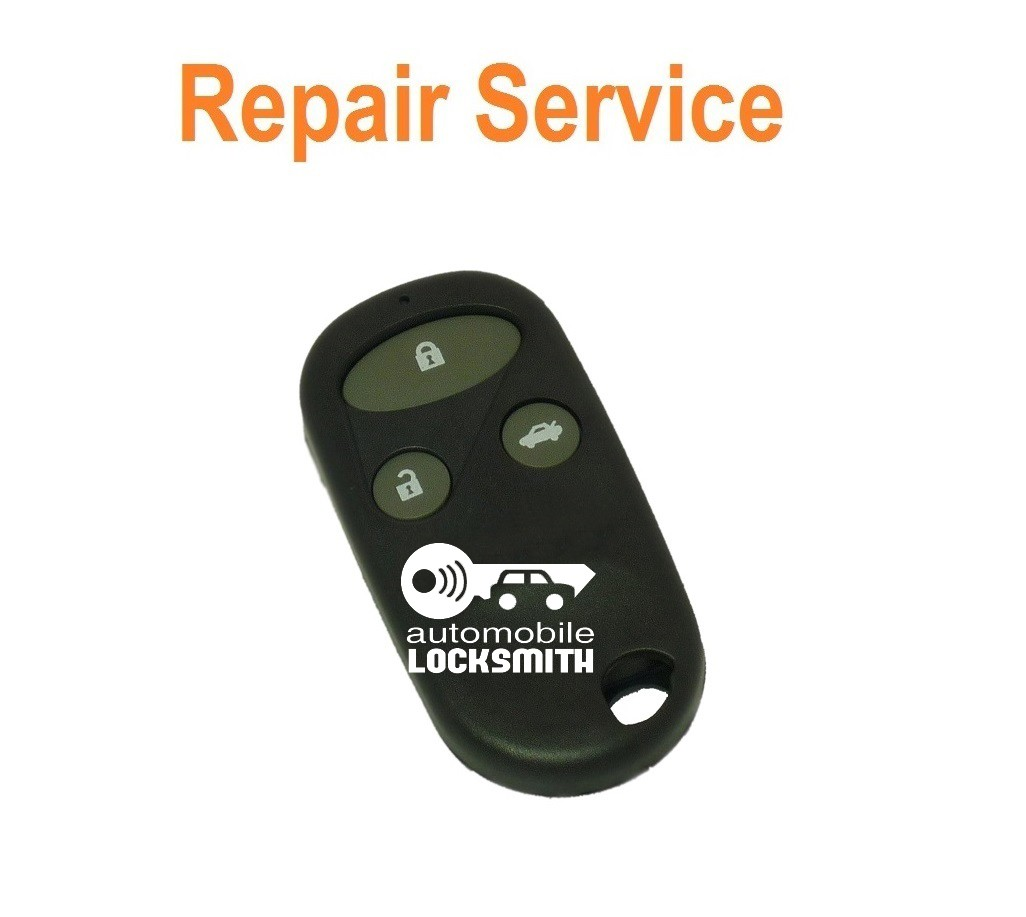 Honda CRV FRV HRV S2000 3 button remote alarm key fob refurbishment repair service