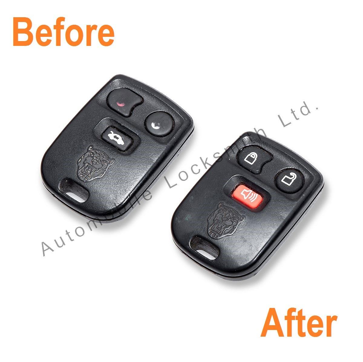 Repair service for Jaguar 3 button remote alarm key