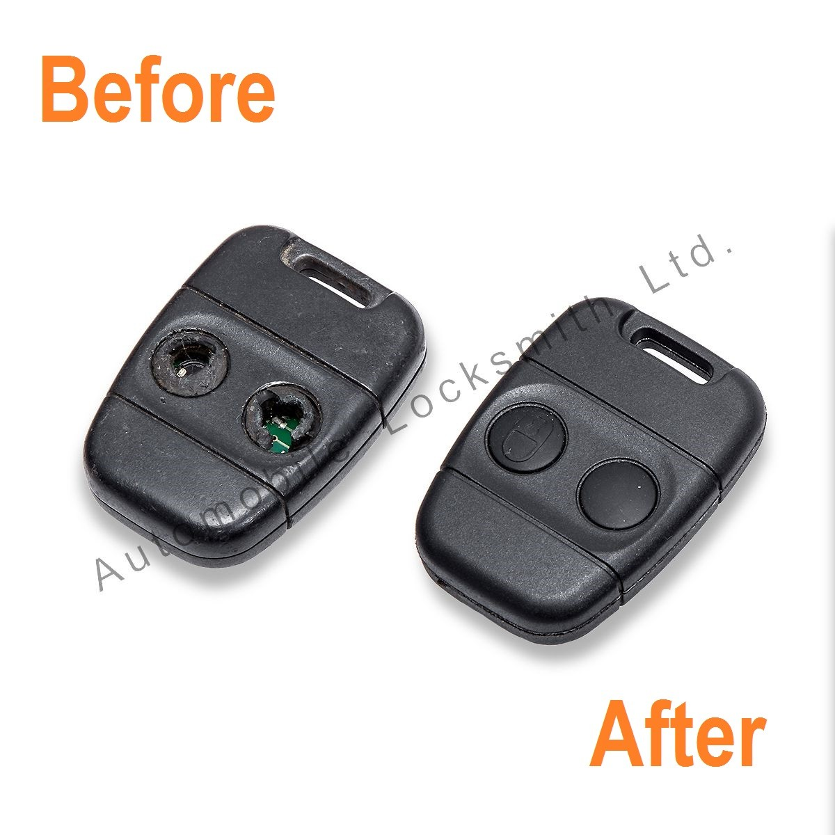 Repair Service for MG Land Rover 2 button remote alarm key