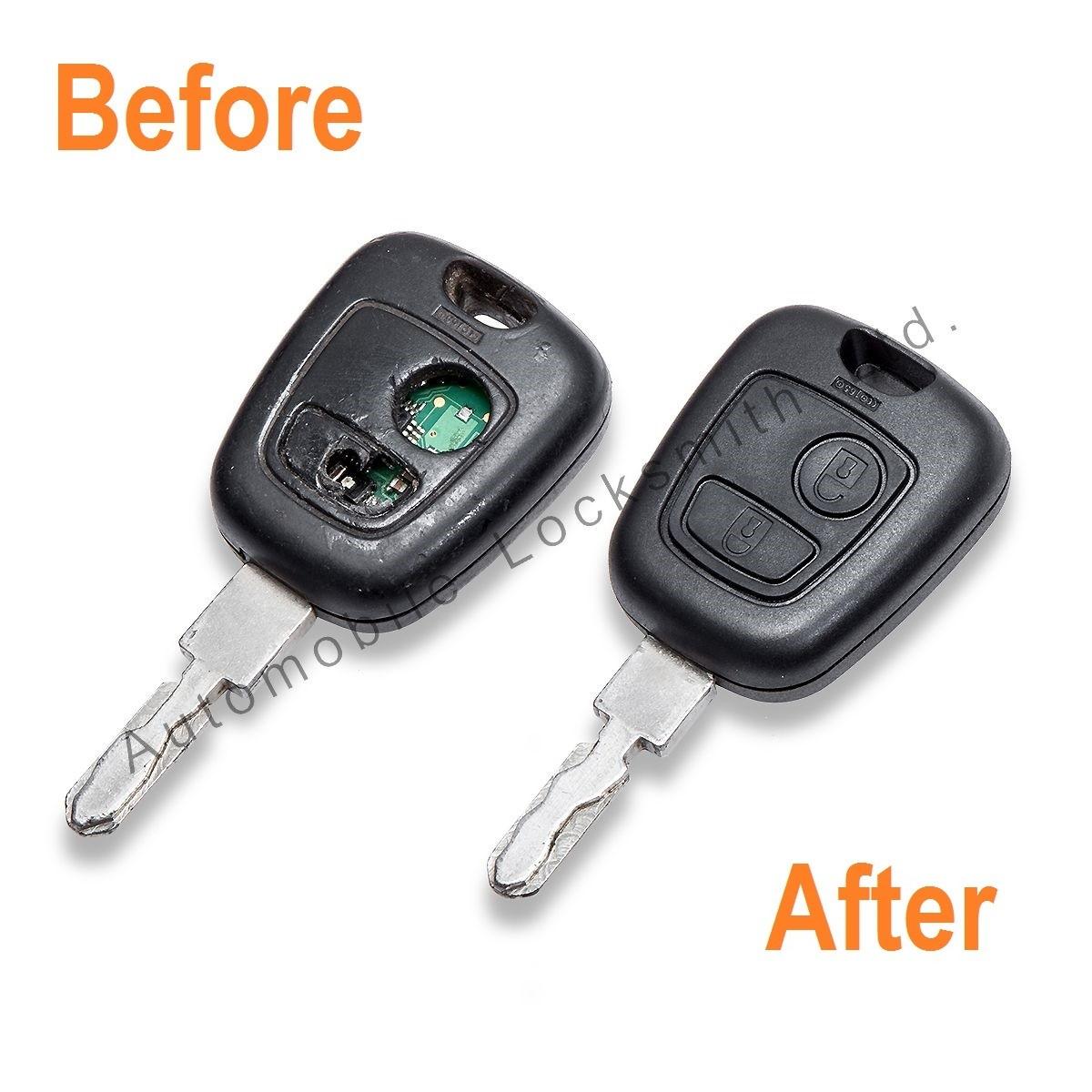 Repair Service for Peugeot Citroen 2 button remote key