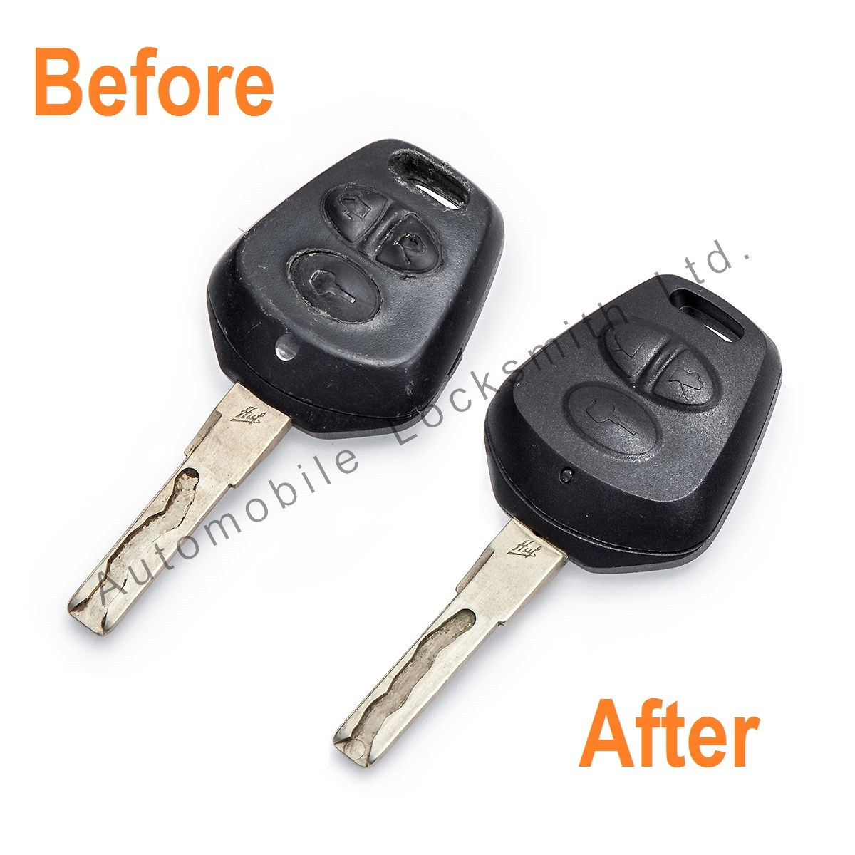 Repair Service for Porsche 3 button remote key