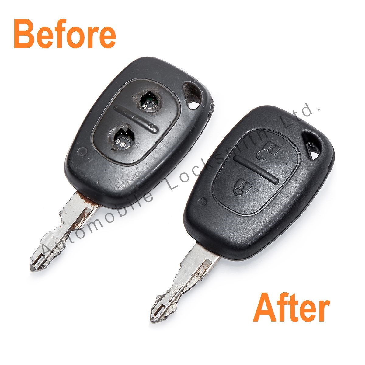 Repair Service for Renault Vauxhall Nissan 2 Button Remote Key