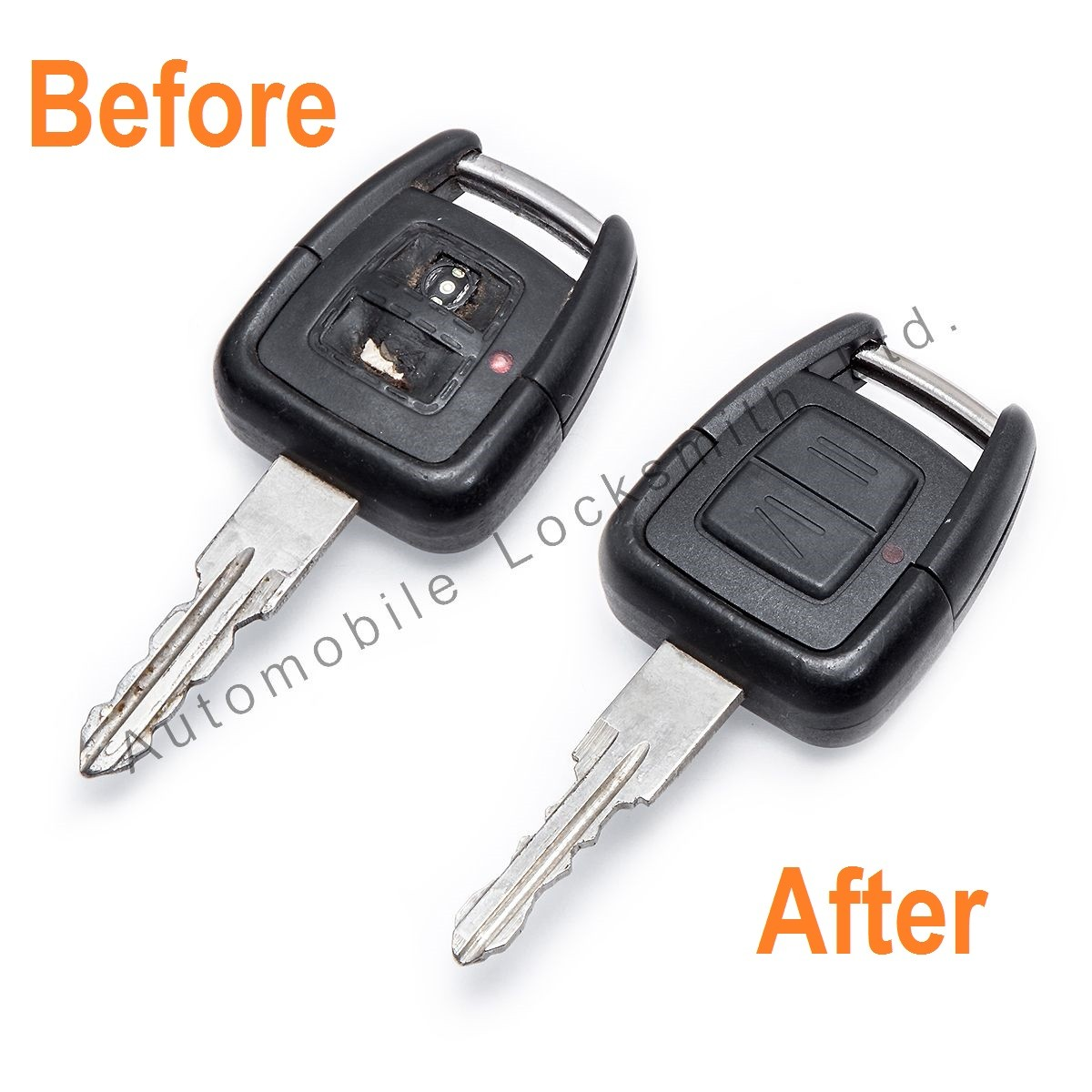 Repair service for Vauxhall Opel 2 button remote key