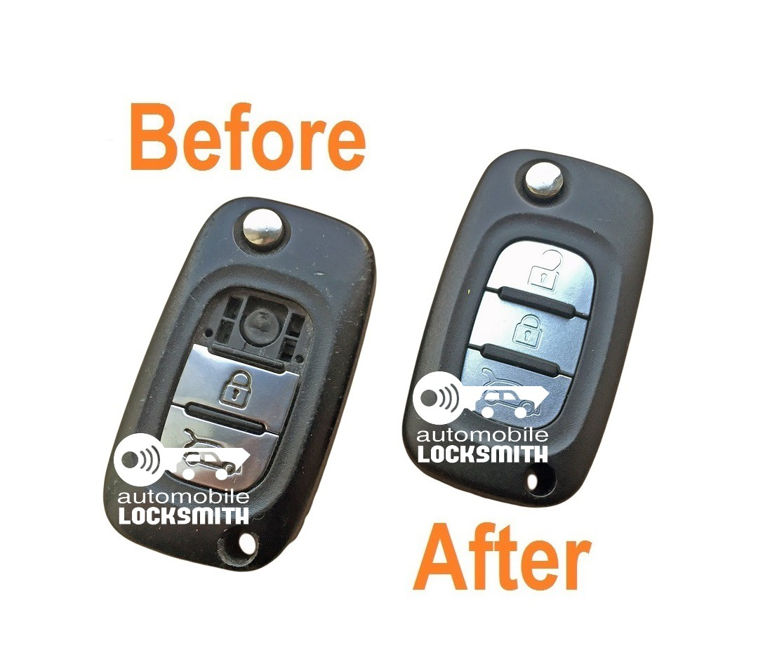 Refurbishment Repair service for Renault Clio Mk5 Kangoo Megane Modus 3 button remote flip key