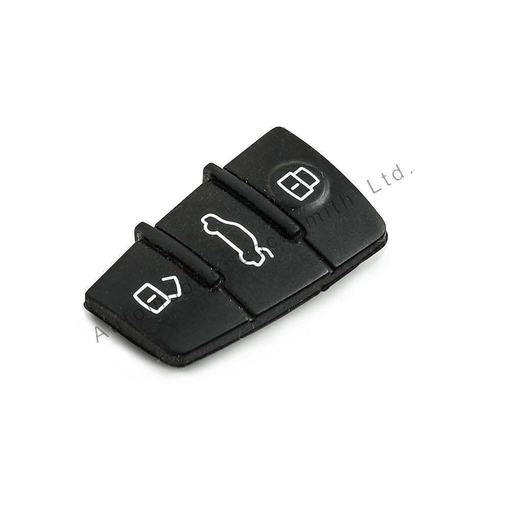 Rubber button pad for Audi TT A3 S3 A4 S4 A5 S5 A6 S6 A5L Q7 3 button remote key