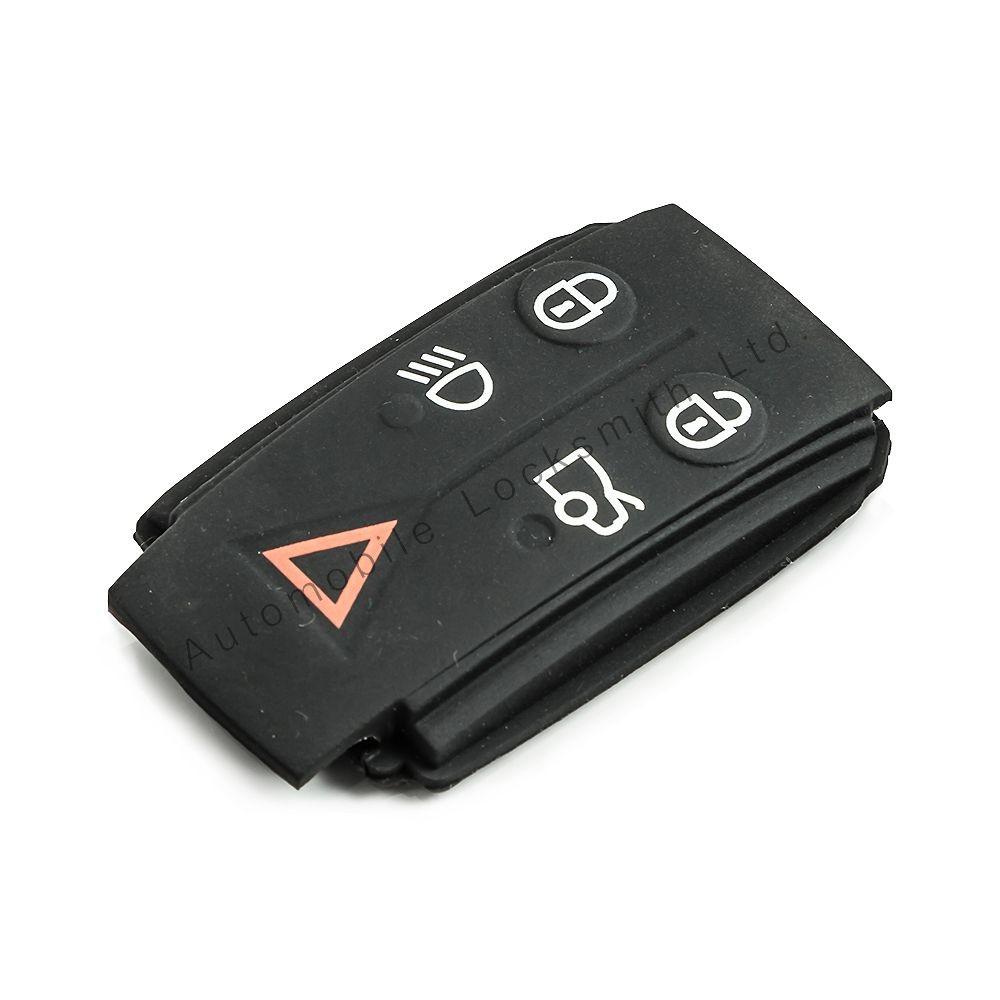 Rubber button pad for Jaguar 5 button remote smart key