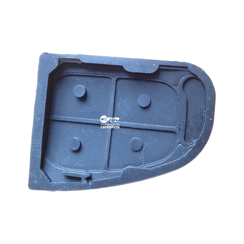 Rubber button pad for Jaguar 4 button remote flip key