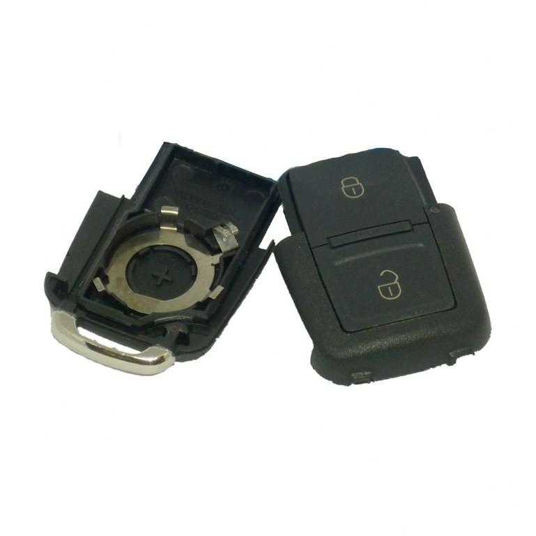 Key Case for Volkswagen Seat Skoda Remote Key Fob 2 Button Square CRV2032