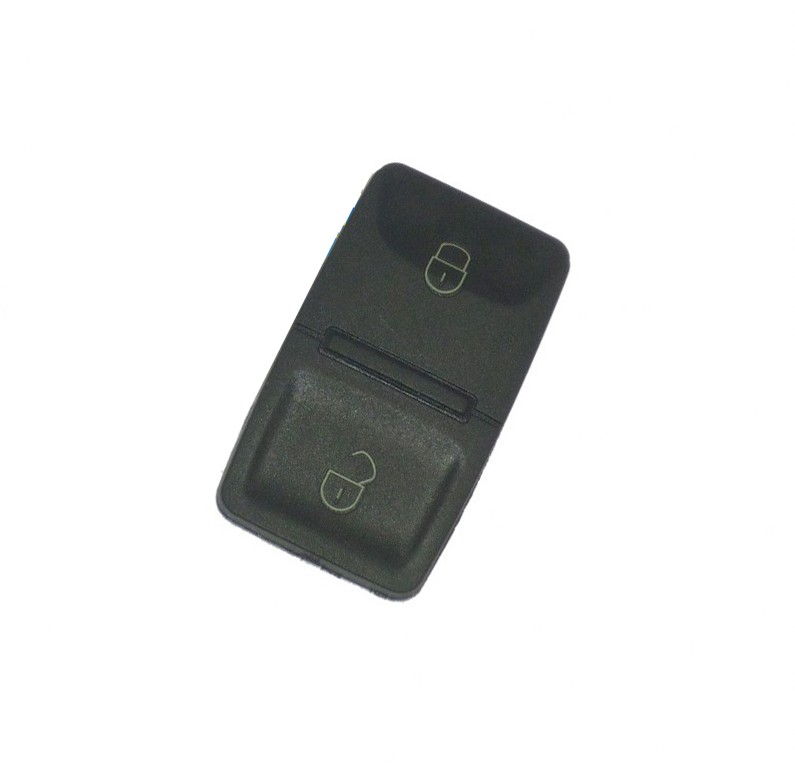 Replacement 2 Button Square Pad for Volkswagen Seat Skoda Remote Key Fob