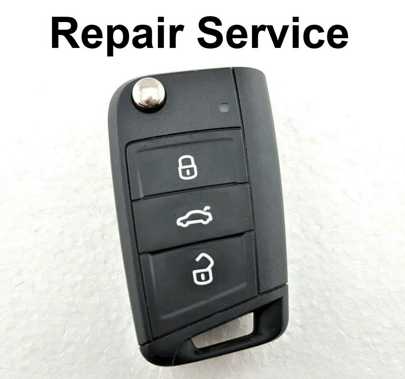 Repair Service for Volkswagen Tiguan Touran Teramont T-Roc Golf Sportsvan 3 Button Remote Key