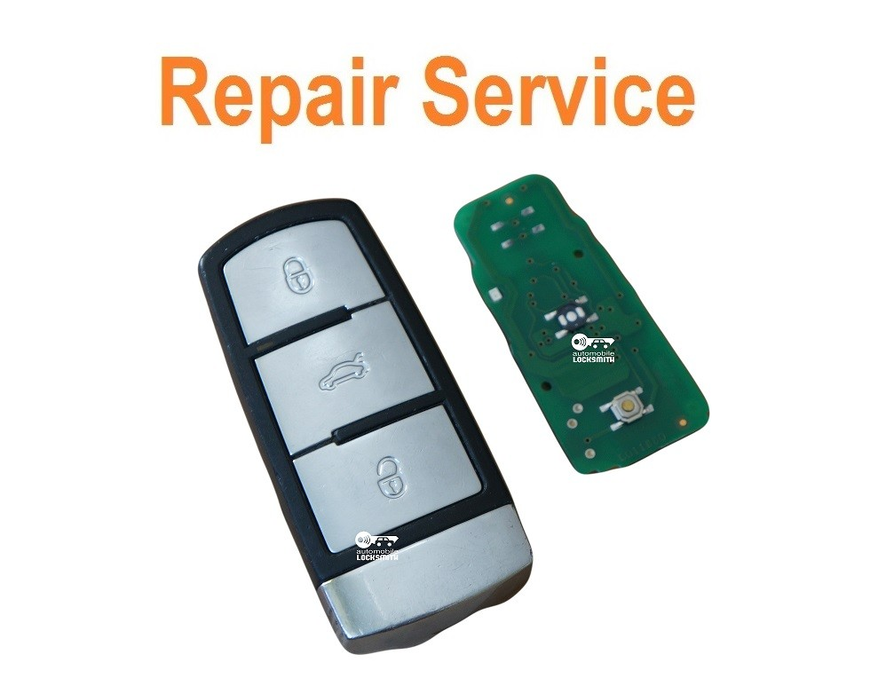 Repair service for Vw Volkswagen Passat B6 MK7 3 button remote smart key fob