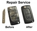 Repair service for Citroen C1 C2 C3 C4 C5 C6 Berlingo 2 button remote flip key