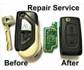 Repair Service for Citroen DS3 2 Button Remote Key black shell replacement