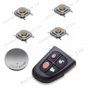 DIY repair kit for Jaguar 4 button remote flip key