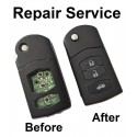 Repair Service for MAZDA 2 3 5 6 RX8 MX5 3 Button Remote Flip Key Fob