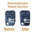 Repair service for Volvo S40 V40 V70 C70 S70 3 button remote key refurbishment
