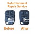 Repair service for Volvo S40 V40 V70 C70 S70 3 button remote key