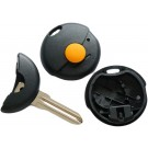 for SMART ROADSTER FORTWO 1 BUTTON REMOTE KEY FOB CASE & BLADE