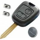 Repair KIT for Citroen 2 button remote key case switches & battery blade C