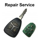 Repair Service for Chrysler Jeep Dodge 3 Button Remote Key