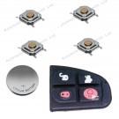 DIY repair kit for Jaguar X-Type 4 button remote flip key fob