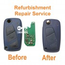 Refurbishment Repair service for Fiat Panda Punto Ducato 3 button remote flip key
