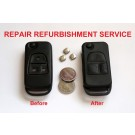 Repair Service for Mercedes ML SL CL C S Class 3 button flip remote key fob