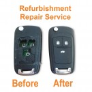 Repair refurbishment service for Vauxhall Opel Insignia Astra 3 button remote flip key