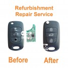 Refurbishment repair service for Kia Rio Ceed Sportage Picanto Sorento Cerato 3 button remote flip key fob