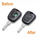Repair Service for Peugeot Citroen 2 button remote key
