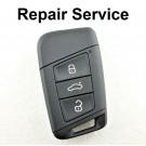Repair Service for VW Volkswagen MK7 Golf Passat B8 3 Button Smart Remote Key
